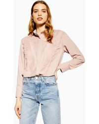 2621592e4f Lyst - TOPSHOP Metallic Tulle T-shirt in Pink