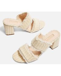 TOPSHOP - Nelly Woven Mules - Lyst