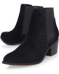 Miss Kg | Spider Black Mid Heel Ankle Boots By | Lyst