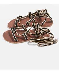 TOPSHOP - Hacienda Strappy Sandals - Lyst