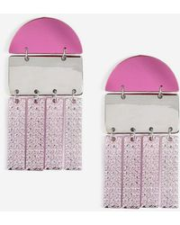 TOPSHOP - rectangle And Abstract Earrings - Lyst