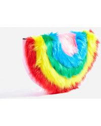 TOPSHOP - Rainbow Clutch Bag - Lyst