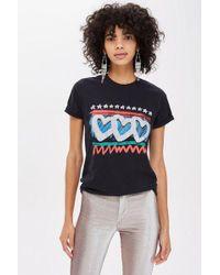 TOPSHOP - Graffiti Heart T-shirt - Lyst