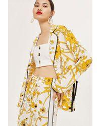 TOPSHOP - Linear Floral Shirt - Lyst