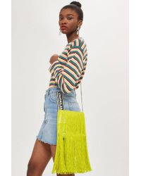 TOPSHOP - Frill Fringe Cross Body Bag - Lyst