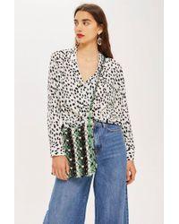 TOPSHOP - Animal Print Pyjama Shirt - Lyst