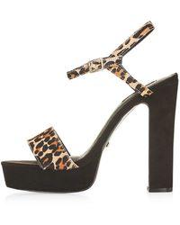 TOPSHOP - Lucky Platform Sandals - Lyst