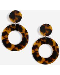 TOPSHOP - resin Circle Drop Earrings - Lyst