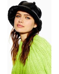 TOPSHOP - Borg Bucket Hat - Lyst