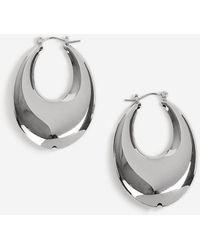 TOPSHOP - Oval Hoop Earrings - Lyst