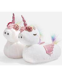 TOPSHOP - Unicorn Slippers - Lyst