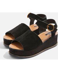 TOPSHOP | Wow Platform Wedge Sandals | Lyst