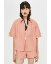 TOPSHOP - Paper Bowling Shirt By Boutique - Lyst