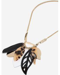 TOPSHOP - Resin Leaf Necklace - Lyst
