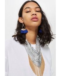 TOPSHOP - Fringed Chainmail Necklace - Lyst