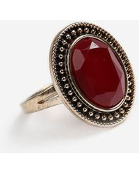 TOPSHOP - Stone Cocktail Ring - Lyst