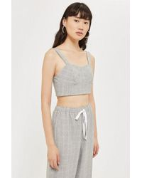 Love - paige Check Bra Top By - Lyst