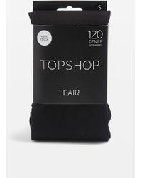 TOPSHOP - 120 Denier Tights - Lyst