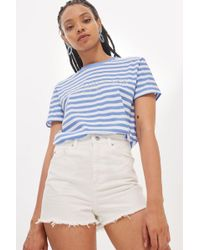 TOPSHOP - Tall White Mom Shorts - Lyst