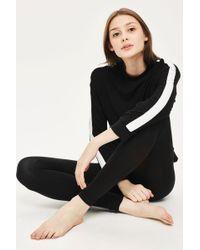 TOPSHOP - Side Stripe Super Soft Sweatshirt - Lyst