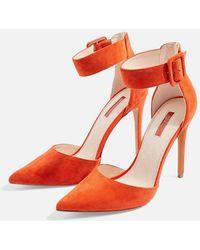 TOPSHOP - Grace Ankle Strap Shoes - Lyst