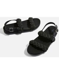 TOPSHOP - Hackney Rope Footbed Sandals - Lyst