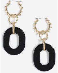 TOPSHOP - Rectangle Drop Link Earrings - Lyst