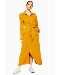 3bca1c6a3e2 Lyst - TOPSHOP Silk Pocket Shirt Dress By Boutique in Blue