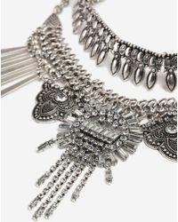 TOPSHOP - Mega Rhinestone Collar Necklace - Lyst