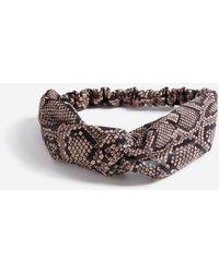 TOPSHOP - Coated Snake Print Hair Bandeau - Lyst
