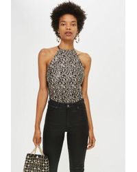 TOPSHOP - Leopard Print Sequin Body - Lyst