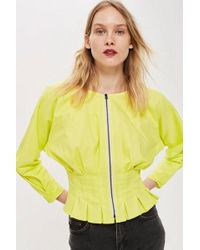 TOPSHOP - pleated Waist Top By Boutique - Lyst