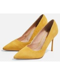 7ee3aeac12a TOPSHOP Jester Kitten Heels in Natural - Lyst