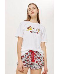 TOPSHOP - Belle Princess Embroidered Set - Lyst