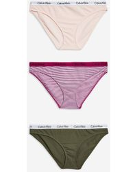 Calvin Klein - Three Pack Mini Knickers By - Lyst