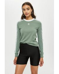adidas - Three Striped Long Sleeve Top By - Lyst