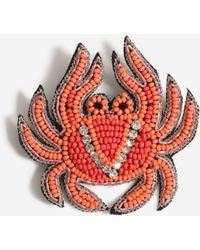 TOPSHOP Beaded Crab Brooch