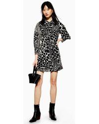 TOPSHOP - Petite Giraffe Mini Shirt Dress - Lyst
