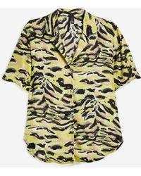 45d3c7a1e0 TOPSHOP - Pyjama Style Shirt By Boutique - Lyst
