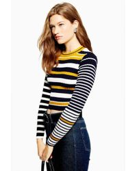 TOPSHOP - Petite Cropped Top - Lyst