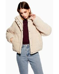 TOPSHOP - Sherpa Puffer Jacket By Native Youth - Lyst