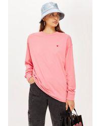 TOPSHOP - Long Sleeve Tunic T-shirt - Lyst