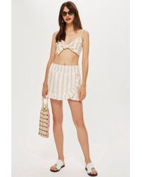 TOPSHOP - Striped Woven Wrap Skirt - Lyst