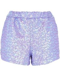 Jaded London - Lilac Sequin Shorts Co-ord By - Lyst