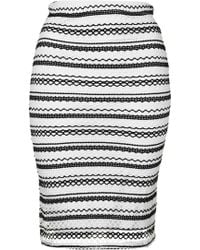 Wal-G | Stripe Lace Co-ord Skirt By | Lyst
