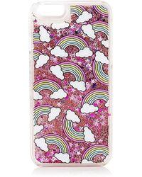 TOPSHOP - Rainbow Glitter Iphone 5 Case By Skinnydip - Lyst