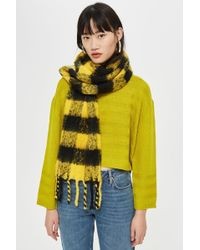 TOPSHOP - Heavy Punk Check Scarf - Lyst