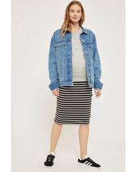 TOPSHOP - Maternity Striped Tube Skirt - Lyst