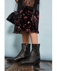 TOPSHOP - Western Sock Boots - Lyst