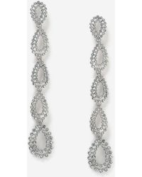 TOPSHOP - Rhinestone Oval Drop Earrings - Lyst